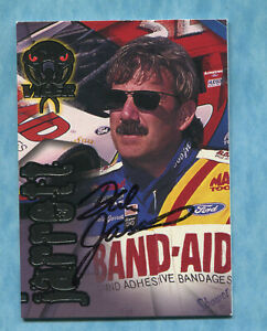 SIGNED 1996 Wheels Viper #58 Dale Jarrett - Autographed Card NASCAR Auto