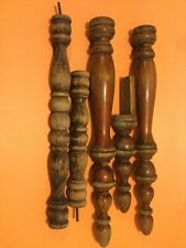 WOOD SPINDLE BALUSTERS / VINTAGE 1972 SPINDLES Lot of 5 / Architectural Salvage