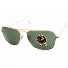 Ray-Ban Caravan Rb3136 001 55mm Arista Frame/crystal Green Lens Sunglasses