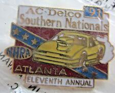 NHRA 91 11th Annual Ac-Delco Southern Nationals Atlanta Drag Racing Event Pin
