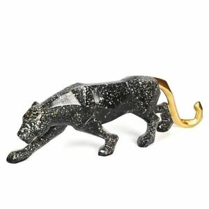 Katlot Nordic Creative Resin Crafts Ornaments Office Study Lucky Animals Leopard