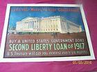 Orig WW1 Poster, SECOND LIBERTY LOAN OF 1917 - TREASURY BUILDING - Linen Lined