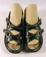 Eastland Women's 5M 5 Sandals Slides Double Buckle Black 3224-01