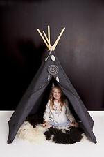 anthracite Colocataire Hippie Tipi Tente de jeu pour Enfants de 2 jusqu'à 8 Ans