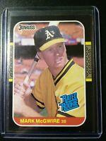 1987 Donruss Mark Mcgwire Rated Rookie #46 Oakland Athletics