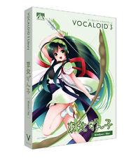 AHS VOCALOID3 Tohoku Zunko Voice Library V3 DVD Windows Mac Vocaloid Japan NEW