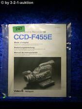 Sony Bedienungsanleitung CCD F455E Video 8 Camera Recorder (#0247)