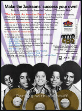 THE JACKSONS: An American Dream__Original 1993 Trade AD / movie promo__Michael