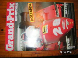 Grand prix international formule 1 n° 69 Hollande 1983