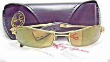 """RAY-BAN *NOS VINTAGE B&L ORBS """"AXIS"""" W2308  Brushed Gold Mirrored NEW SUNGLASSES"""