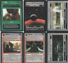 6 Cards Star Wars Customizable Card Game Ccg-exactly on the scan 8