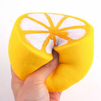 Jumbo Squishy Half Lemon Fruit Scented Super Slow Rising Keyring Kid Funny Toy
