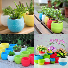 Simple Mini Round Plant Flower Pot Garden Home Office Shelf Decoration Planter