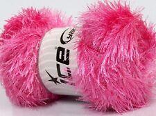 100 gram skein Princess Pink Eyelash Glitz #46558 Ice Sparkly Eyelash Yarn 153yd