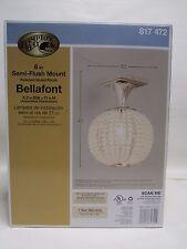 Hampton Bay Bellefont 1-Light Polished Nickel Crystal Ball SemiFlush Mount Light