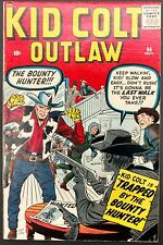 KID COLT OUTLAW #94 FN+ SHARP 1960 ,KIRBY COVER! TRAPPED BY THE BOUNTY HUNTER!
