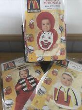 More details for 3 mcdonald's baby bib & bonnet sets newborn to 9 months collectable memorabilia