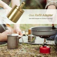 Gas Nachfülladapter Für Outdoor Camping Wandern Herd Aufblasen Butan O9E8