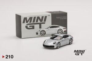 Mini GT Porsche 911 (992) Carrera S GT Silver Metallic LHD n°210 (NP28)