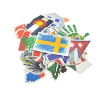 52 Set Country Flag Travel Decal Sticker Travel Hotel Suitcase Laptop