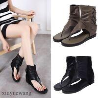 Stylish Hot Womens Thong Flip Flops Leather Roman Shoes Gladiator Sandals Size