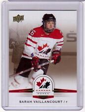 SARAH VAILLANCOURT 14/15 Upper Deck Women's Team Canada Juniors #67 Gold Sepia