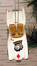 KING OF DIAMONDS CONVERTIBLE WHITE CHRISTMAS TREE ORNAMENT XMAS