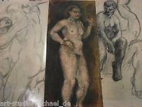 Konvolut aus 19 Arbeiten des auricher Künstlers Niedzballa, AKte