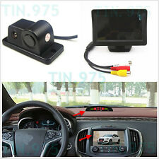 "4.3"" HD Display Monitor Reverse Parking Radar Sensor Rear View Backup Camera Kit"