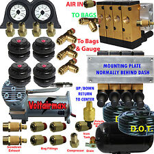 "Air Ride Suspension Manifold Valve 3/8"" Manual Air #2500 Bag Control fbss 140psi"