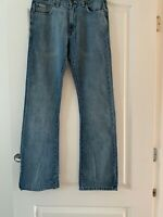 NEW Ladies Calvin Klein Blue Navy Denim Bootcut Jeans 29/32 Regular Womens CKJ