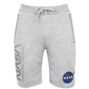 Alpha Industries Men's Shorts NASA Odyssey Size XL Extra Large Grey RRP £90