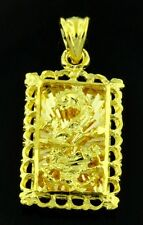 3-d  18k solid yellow gold dragon pendant filigree h3jewels #4261 2.70 grams