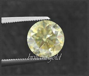 Diamant Brillant Farbe fancy yellow 2,3 mm, natürliche Farbe; echte Diamanten