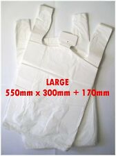 200 Large Plastic Bags/ Shopping Carry Bags Approximately 550mm X 300mm 170mm