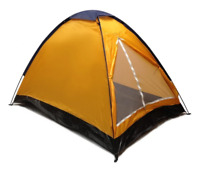 Brand New! 2 Person Dome Camping Tent - 7x5' with Sealed Bottom - Orange