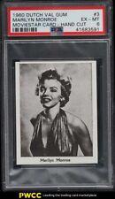 1960 Dutch Val Gum Moviestar Card Marilyn Monroe #3 PSA 6 EXMT