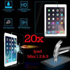 20 x 9H Premium Tempered Glass Film Screen Protector Apple iPad Mini 1 2 3 Lot