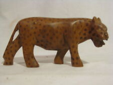 cheetah statue hard wood jungle cat leopard carving wooden carved figure