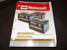 2009 2010 MOTORCRAFT BATTERIES BATTERY MASTER PARTS CATALOG W PART NUMBERS TO ID