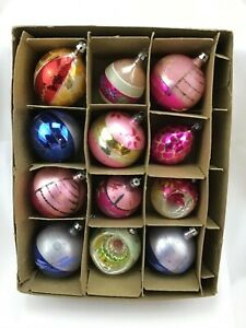 Vintage Christmas Ornaments Poland Lot of 12