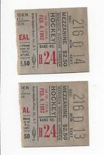 1962 hockey ticket lot of 2 New York Rangers v Montreal Canadiens NY wins 2 to 1