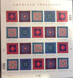 USA 2001 AMISH QUILTS  SG3993/6  SHEET UNMOUNTED MINT CAT £32