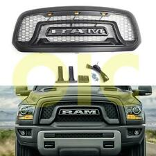 For 2013-2018 Dodge Ram 1500 Rebel Style LED Honeycomb Front Upper Hood Grille