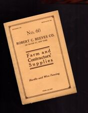 vintage FARM SUPPLY Catalog, Robert C. Reeves Co, NYC,Agriculture,New York,1916?
