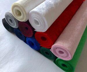 Soft Crushed Velvet on Felt Fabric Back A4 sheets Craft Bow Maker