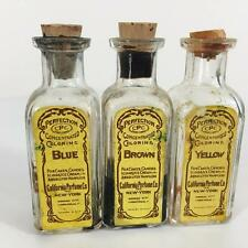 Perfection Concentrated Coloring California Perfume Co Antique Bottle Lot 3 CPC