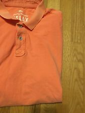 Men's Orange Tommy Bahama Shirt Relax Polo Shirt Size Extra Large XL S/S Marlin