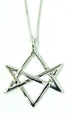 More details for hexagram pendant unicursal 925 silver aleister crowley thelema magick 18
