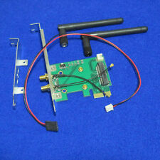2 kinds bracket mini pci-e to pci-e card for wireless wifi bluetooth